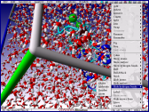 Real-time molecular dynamics simulation